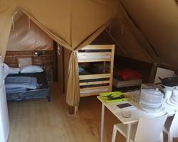 Intérieur 1 tente amazone-Rouen-camping du lac