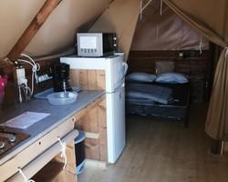 Intérieur tente 2 amazone-Rouen-camping du lac
