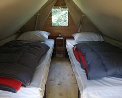 Intérieur tente bivouac-Rouen-camping du lac