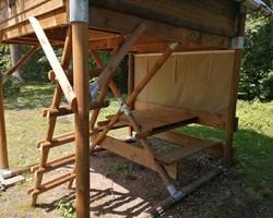 Intérieur tente bivouac 1 -Rouen-camping du lac
